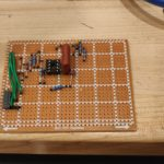 Components placed on stripboard