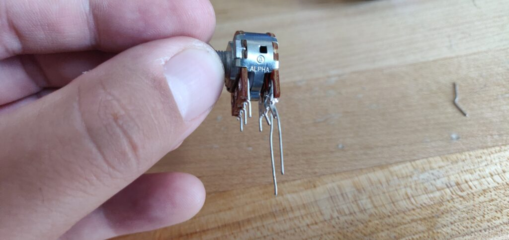 Bent and Soldered Legs